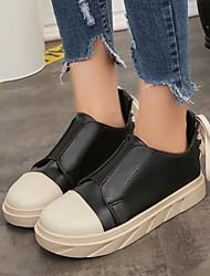 cheap -Women's Sneakers Summer Flat Heel Closed Toe Daily PU Black