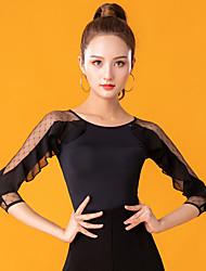 cheap -Ballroom Dance Top Lace Ruching Women's Performance 3/4 Length Sleeve Ice Silk