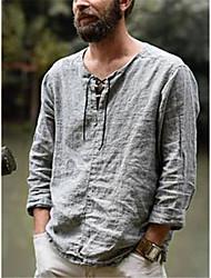preiswerte -Herrn Solide Hemd Alltag Grau