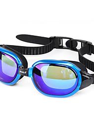 Недорогие -плавательные очки плавательные очки Противо-туманное покрытие Удобный Безопасность Для Взрослые Поликарбонат зеленый красный серый