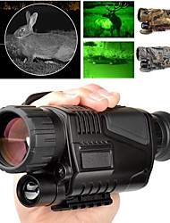cheap -5 X 40 mm Night Vision Monocular Infrared Lenses Fully Multi-coated BAK4 with Recording Image and Video Function Camping / Hiking Hunting Fishing Portable Night Vision PC driver Rubber Metal