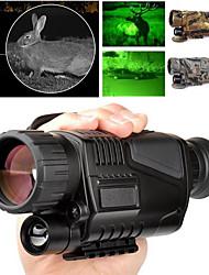 Недорогие -5 X 40 mm Монокуляр ночного видения Инфракрасный Линзы 5*3.75 m Полное многослойное покрытие BAK4 Отдых и Туризм Охота Рыбалка Компактность Ночное видение Драйвер для ПК Ластик Металл / Для охоты