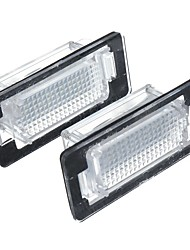 cheap -2PCS LED License Number Plate Lights White for VW Audi Seat