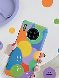 olcso -Case Kompatibilitás Huawei Huawei P20 / Huawei P20 Pro / Huawei P30 Ütésálló Fekete tok Mértani formák TPU