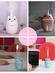 cheap -320ML 3 in 1 USB Air Humidifier Ultrasonic Cool-Mist Adorable Pet Mini Humidifier With LED Light Mini USB Fan