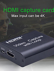 cheap -4K HD Video Capture Card HDMI Video USB2.0 Capture With Loop Streaming Live Broadcasts Video Recording for high definition acquisition