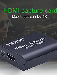 Недорогие -4k HD видеокарта захвата HDMI видео USB 2.0 захвата с петлей потоковой передачи прямой трансляции видео записи для получения высокой четкости