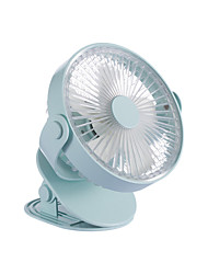 cheap -Electric USB Fan Mini Portable Handheld Small Cooling Fan Clip USB Charging Fan Desktop Computer Air Cooler Fan for Office