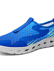 cheap -Men's Fall Sporty / Casual Daily Outdoor Trainers / Athletic Shoes Hiking Shoes / Upstream Shoes Mesh Breathable Non-slipping Shock Absorbing Black / Royal Blue / Dark Blue