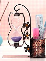 Недорогие -Один висит медь искусство песочные часы держатель ручки сочетание металл ремесел таймер творческий европейский дом ремесел держатель ручки 16 * 19.5 см
