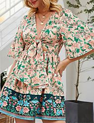 Недорогие -платье с цветочным принтом Ador Boho