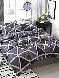 Недорогие -простой ветер удобная печать шаблон постельное белье из четырех частей пододеяльник простыня наволочка общежитие одноместный двухместный