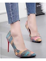 cheap -Women's Heels Summer Stiletto Heel Pointed Toe Daily PU Orange / Blue