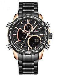cheap -NAVIFORCE Men's Steel Band Watches Analog - Digital Quartz Modern Style Sporty Outdoor Calendar / date / day Chronograph Alarm Clock / Two Years / Stainless Steel / Japanese