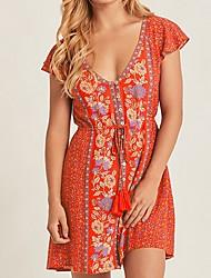 Недорогие -Платье-хобо 2020summer с цветочным принтом