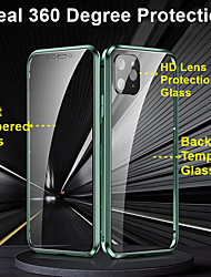 cheap -Privacy Metal Magnetic Adsorption Tempered Glass Case 360 Protective Cover For iPhone SE 2020 /11 / 11Pro / 11 Pro / X / XS / XR / XS Max / 8Plus / 8 / 7Plus / 7