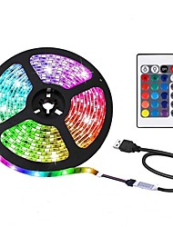 cheap -2m LED Strip Lights Light Sets RGB Tiktok Lights 60 LEDs 5050 SMD 1 24Keys Remote Controller 1pc RGB+White Christmas New Year's Waterproof USB Decorative USB Powered