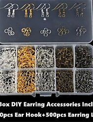 cheap -Personalized Customized DIY Jewelry Findings Kit Handmade 1pc / pack Golden Silver