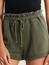 abordables -Femme Sportif Quotidien Chino Pantalon - Couleur Pleine Cordon Des sports Noir Vert Véronèse S M L