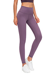 cheap -Women's High Waist Yoga Pants Cropped Leggings Butt Lift 4 Way Stretch Breathable Purple Red Light Red Nylon Non See-through Gym Workout Running Fitness Sports Activewear High Elasticity Skinny