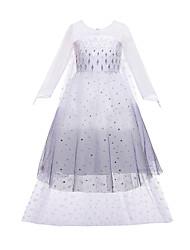 cheap -Frozen Princess Dress Girls' Movie Cosplay Vacation Dress Halloween Christmas White Dress Christmas Halloween