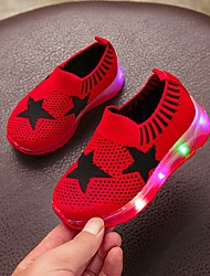 cheap -Girls' Comfort Knit Flats Big Kids(7years +) Black / Red / Pink Summer
