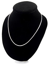 cheap -Women's Chain Necklace Ladies Sterling Silver Silver 3# 4# 5# Necklace Jewelry For Party Casual