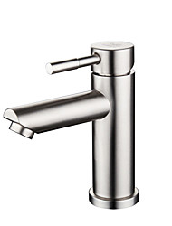 cheap -Stainless steel basin faucet single hole hot and cold mixed water bathroom wash basin faucet