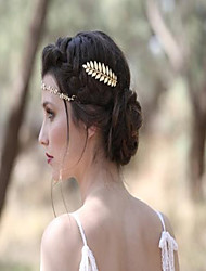 cheap -Ladies Stylish Alloy Headdress with Solid 1 Piece Wedding / Special Occasion Headpiece