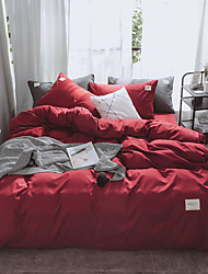 cheap -Nordic style cotton simple modern dormitory bed sheet cover 1.5M1.8 bed sheet style 4-piece single pair