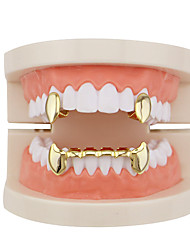 cheap -Teeth Set / Teeth Grills Statement Stylish Luxury Unisex Body Jewelry For Halloween Masquerade Synthetic Diamond Copper Rose Gold Gold Silver 1 set