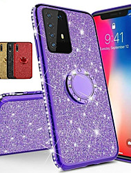 cheap -Diamond 360 Degree Rotating Ring Holder Plating Soft TPU Glitter Bling Case For Samsung S20 Ultra S10 Plus 5G A51 A71 A91 A81 A70E A20E A60 A90 A80 A41 A21 A11 A01 Note 10 Note 9 Note 8 Shining Case