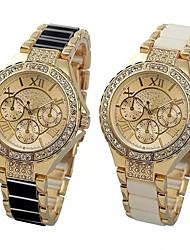 cheap -Women's Quartz Watches Quartz Stylish Fashion Adorable Analog Black Gold / One Year / One Year