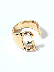 cheap -Ring Gold Silver Alloy Alphabet Shape 1pc Adjustable / Women's
