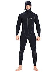 cheap -YON SUB Men's Full Wetsuit 5mm CR Neoprene Diving Suit Thermal Warm Waterproof Long Sleeve Front Zip - Diving Water Sports Solid Colored Autumn / Fall Spring Summer / Winter / Micro-elastic