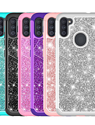 cheap -PC TPU 2in1 Taping Glitter Shine Phone Case For Samsung Galaxy A11 A71 A21 A51 A50(2019) A30(2019) A20(2019)