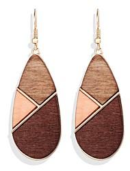 cheap -Women's Dangle Earrings Geometrical Fashion Vintage Modern Boho Wooden Earrings Jewelry Brown For Date Vacation Beach 1 Pair