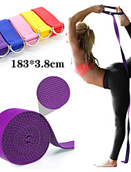 cheap -Yoga Strap 1 pcs Sports Polyester Yoga Pilates Bikram Stretch Eco-friendly Durable Adjustable D-Ring Buckle Physical Therapy Stretching Improve Flexibility For Men Women Waist & Back Leg Abdomen