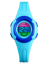 cheap -SKMEI Kids Digital Watch Digital PU Leather Black / Blue / Red 50 m Water Resistant / Waterproof Calendar / date / day Chronograph Digital Outdoor - Black Blue Purple Two Years Battery Life