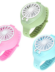 cheap -USB Rechargeable Fan With Comfortable Wrist Strap Portable Mini Fan Watch-Shaped Fan Control For Indoors Or Outdoors Traveling