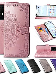 cheap -Mandala Embossed Leather Wallet Flip Case for Samsung Galaxy S20 Ultra S20 Plus A51 A71 A91 A81 A41 A31 A21 A11 A01 A20e A70 A60 A50 A40 A30 A10 A9 A7 2018 S10 S9 S8 Note 10 Card Stand Cover