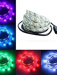 Недорогие -5 В светодиодные полосы света USB 2835SMD гибкие светодиодные водонепроницаемые лампы ленты ленты 1 м 2 м 3 м 4 м 5 м телевизор настольный экран с подсветкой диод для гостиной спальни украшения