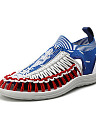 cheap -Men's Spring / Summer Casual / Beach Daily Outdoor Sandals Elastic Fabric Breathable Non-slipping Wear Proof Black / Red / Almond / White / Blue