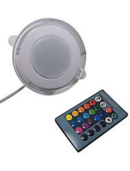 cheap -1pcs Ultra Bright Round RGBW LED Downlight 5W Aluminum AC110V 220V LED Down Light Recessed Spot Light