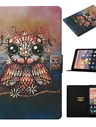 cheap -Case For Amazon Kindle Paperwhite 2/3/4 / Amazon HD8(2016) Card Holder / with Stand / Pattern Full Body Cases Animal PU Leather For kindle fire HD 10 2015 2017