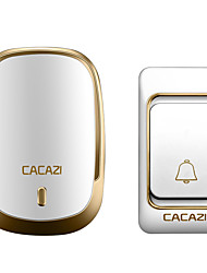 cheap -CACAZI Wireless Doorbell Waterproof 300M Remote US EU UK AU Plug Smart Home Calling Doorbell Battery Button 36 Chimes 220V