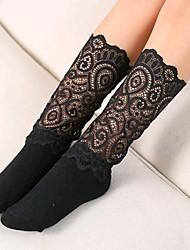 cheap -Kids Girls' Black White Patchwork Lace Trims Underwear & Socks White
