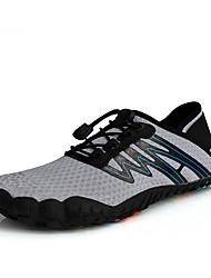 cheap -Men's Fall / Spring & Summer Sporty / Casual Daily Outdoor Trainers / Athletic Shoes Hiking Shoes / Upstream Shoes Mesh Breathable Non-slipping Shock Absorbing Black / White / Black / Gray