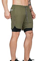 cheap -Men's Sporty Street chic Slim Sweatpants Shorts Pants - Solid Colored Sporty Drawstring Cycling Summer White Black Army Green US32 / UK32 / EU40 / US34 / UK34 / EU42 / US36 / UK36 / EU44