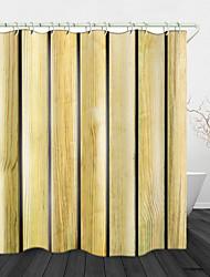 Недорогие -Творческая деревянная доска фон цифровой печати водонепроницаемая ткань занавески для душа для ванной комнаты домашнего декора покрыты ванной шторы лайнер включает в себя с крючками